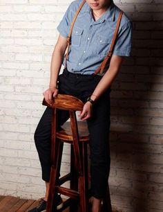 Подтяжки мужские коричневого цвета в интернет-магазине VirginMG Club