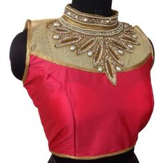 0be71d0483 Banglori Silk Stone Work Pink Semi Stitched Blouse - 813 Readymade Blouses  Online, Stone Work