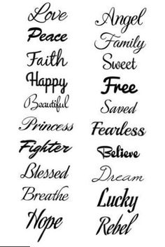 Script Temporary Tattoo Set - tattoos ♥ - Tattoo Designs for Women Tattoo Script, Tattoo Set, Diy Tattoo, Wrist Tattoo, Tattoo Shoulder, Tattoo Fonts Cursive, Tattoo Music, Tattoo Words, Finger Tattoos Words