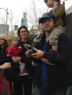 Maison, Vickie, Misha, and West - no idea where they are but it's great to see Vickie and Maison in the pic!