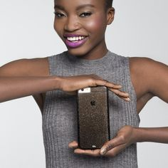 0f941367070 iPhone 6 Plus   6s Naked Tough Sheer Glam Noir Case - lifestyle angle 1 Bon
