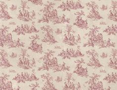 Red and Cream French Countryside Pastoral by WallpaperYourWorld, $6.99