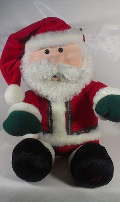"""*RARE* GUND FUN Laughing Talking Animated Santa Claus HUGE 24"""" Plush Doll Toy   #GUND"""