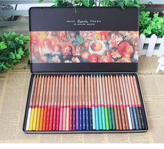crayons de couleur professionnel 24 36 48 solventborne crayon de couleur de couleur étain ensemble lapis cor