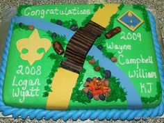 Boy Scout/Cub Scout Graduation Cake by hartsdelights, via Flickr