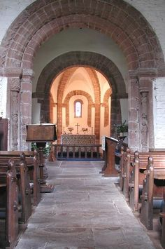 Inside the Church of St Mary and St David at Kilpeck.