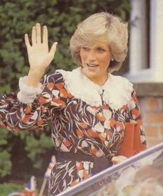 May 13, 1983: Princess Diana visiting Paradise House in Painswick, Gloucestershire.