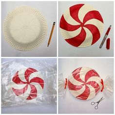 Painted Paper Plate Peppermints.
