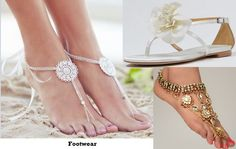 footwaer for beach wedding