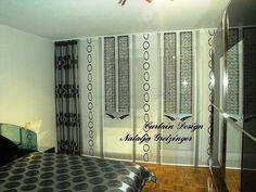 Schwarzer Schlafzimmer Schiebevorhang mit Steinmuster - http://www.gardinen-deko.de/schwarzer-schlafzimmer-schiebevorhang-mit-steinmuster/