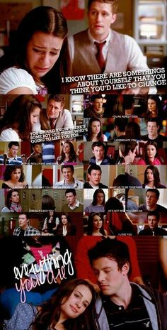 The one ship from this show that deserved to be together in the end sadly won't.<<< Don't Forget About Klaine and Brittana. Rachel And Finn, Lea And Cory, Best Tv Shows, Best Shows Ever, Favorite Tv Shows, Glee Quotes, Glee Memes, Funny Memes, Just A City Boy
