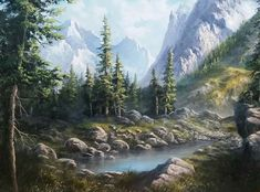 landscape oil painting with Kevin Hill. Learn techniques that can improve oil, acrylic and even watercolor paintings. Beautiful Paintings Of Nature, Nature Paintings, Beautiful Landscapes, Landscape Paintings, Acrylic Paintings, Acrylic Art, Landscape Photography Tips, Artistic Photography, Abstract Nature