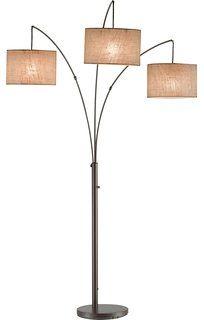 Adesso 4238-26 Trinity Arc Lamp, Antique Bronze