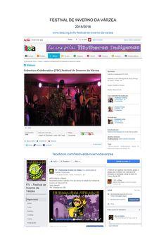 FESTIVAL DE INVERNO DA VÁRZEA 2015/2016 Cobertura Audiovisual/Criação de conteúdo para Midias Digitais/Colaboração com Assessoria de Imprensa nas edições de 2015 e 2016. www.iteia.org.br/fiv-festival-de-inverno-da-varzea facebook.com/festivaldeinvernodavarzea