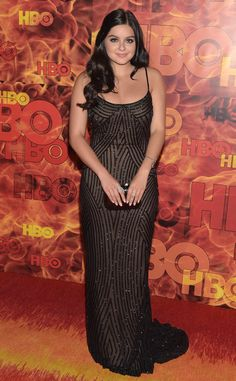 Ariel Winter from 2015 Emmys After-Party Looks  Yet again, the Modern Family star delivered a stunning look in the form of this sparkling Lorena Sarbu gown for HBO's after-party.