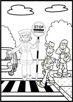traffic safety signs coloring pages … ........... Be safe on the ...