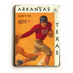 Decorate the man cave or game room with vintage Sports or Traffic signs, this one is Arkansas vs. Texas