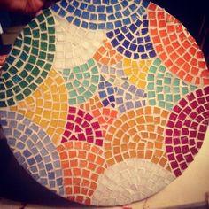Tabla de quesos mosaico veneciano venecitas . Juego de colores