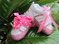 K-SWISS Swarovski Crystal Shoe Infant Baby by angelareesestudio