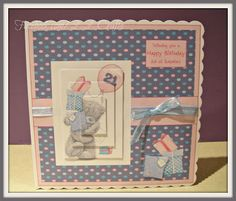21st birthday tatty teddy card