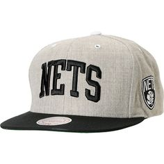 Mitchell and Ness Brooklyn Nets Arch Road Grey Snapback Hat  29.95 5086fb154e0