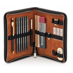 Leather Dye, Cowhide Leather, Leather Pencil Case, Led Pencils, Stationery Pens, Pencil Sharpener, Pencil Boxes, Mechanical Pencils, Natural Leather