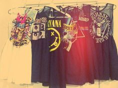 band tees turned into dresses ♥