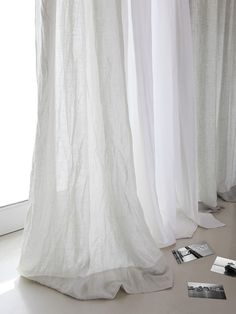 Master Bedroom Design Elements. White Linen CurtainsDrapes ...