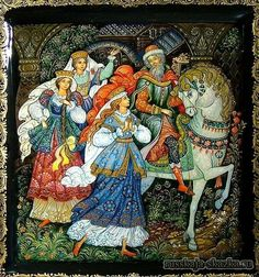 """""""Аленький цветочек"""", Аксаков С.Т. http://russkaja-skazka.ru/alenkiy-cvetochek/ И отпустил он дочерей своих, хороших, пригожих, в ихние терема девичьи. Стал он собираться в путь, во дороженьку, в дальние края заморские. Долго ли, много ли он собирался, я не знаю и не ведаю: скоро сказка сказывается, не скоро дело делается. Поехал он в путь, во дороженьку...  #сказки #картинки #АленькийЦветочек #art #Russia #Россия #добро #дети  #иллюстрации #paint #картины #художник #RussianLacquerArt…"""