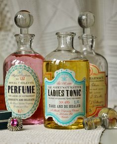 old bottles | Choose your design: -- Please Select -- Ladies Tonic Perfume Pharmacy
