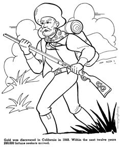california gold rush early explorers the revolution us presidents american inventors are just a few of the many free printable coloring pictures and