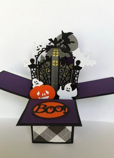 HALLOWEEN 3D POP-UP GREETING CARD Trick or Treat Dogs By Pop Greetings