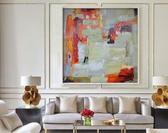 Large Acrylic Painting On Canvas Abstract Art by CelineZiangArt