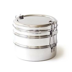 Our ECOlunchbox Tri Bento lunch box stainless steel lunchbox includes three BPA-free, plastic-free food containers that stack and clip together. Lunch Snacks, Snack Boxes Healthy, Nutritious Snacks, Bento Box Lunch, Clean Eating Snacks, Lunch Recipes, Bento Lunchbox, Box Lunches, Lunch Containers