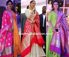 Wardrobe Must Have : Banarasi Dupattas – South India Fashion Indian Dress Up, Indian Attire, Indian Wear, Indian Outfits, Simple Kurta Designs, Half Saree Designs, Blouse Designs, Frocks And Gowns, Sumo