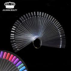 50PCS False Fake Nail Practice Fan-shaped Decorated Nail Art Tip Polish UV Gel Salon Pro Display Chart Tool Gel Decoration Stick