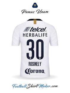 33df025b3 Camiseta Pumas UNAM 2018 19 Rosinely 30