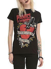 HOTTOPIC.COM - Panic! At The Disco Tattoo Heart Girls T-Shirt