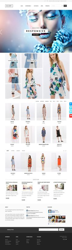 Allure is a #Responsive #Boostrap 3 #OpenCart #eCommerce #theme with a clean modern #design, designed with usability in mind.  The theme is comp...