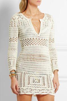 Emilio Pucci | Crocheted cotton mini dress | NET-A-PORTER.COM