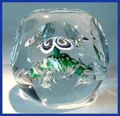 Kraft Faceted floral paperweight (Paperweights) at Randall Antiques & Fine Art Glass Paperweights, Paper Weights, Overlays, Glass Art, Fine Art, Abstract, American, Antiques, Floral