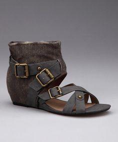Dark Gray Lynn Sandal by Calvin Klein Jeans #zulily #zulilyfinds