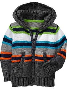 Striped Sweater-Knit Hoodies for Baby | Old Navy