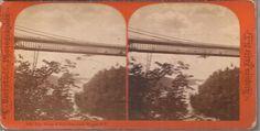 1872 Bierstadt Stereoview#939 - Suspension Bridge & Falls From Below Niagara NY