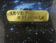 Love & Struggle bar pin #wildfancydesign #queer #flagging #jewelry