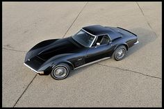 """1972 Chevrolet Corvette Convertible  Only one Corvette received a factory-applied Black paint in 1972, and this is it. Known simply as """"The Black 72"""""""