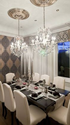 Pair your light fixtures with beautiful ceiling medallions to get this sophisticated look. Check out our medallions. http://www.udecor.com/