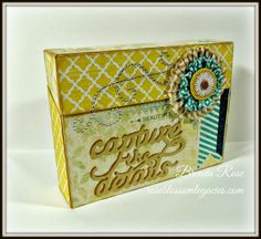 CTMH Card Box beautifully covered by CTMH Skylark papers (and filled with Skylark Picture My Life scrapbooking cards).  by the ever-lovely Brenda Rose