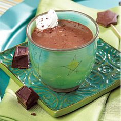 Spirited Hot Mocha | Chocolate, Brandy, and coffee...perfect winter after-dinner drink ;)