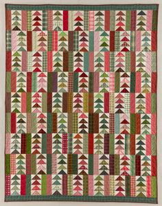 Oh, I love this quilt!!  Flying Geese and plaids - what a combination!